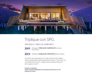 """""""Triplique con SPG (SPG Take Three)"""", la promoción de verano de SPG"""
