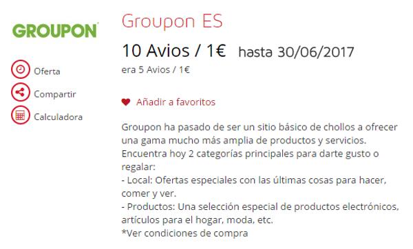 ¡Ya están aquí otra vez! Compra Avios con Groupon, desde 0.00867€ por Avios!
