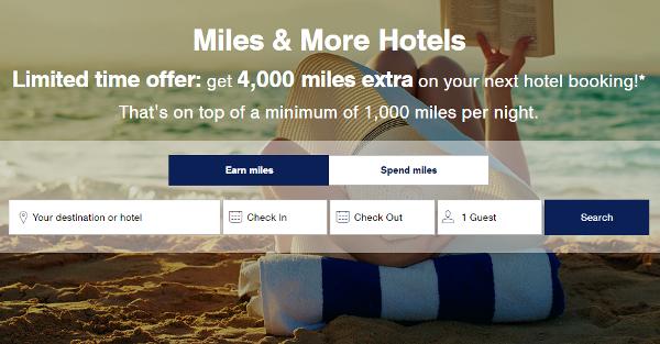 5.000 millas Miles&More con una estancia de hotel