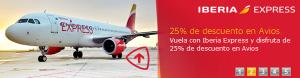 Iberia Express: 25% descuento en Avios – 25% Avios extra