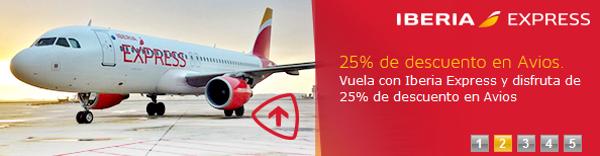 Iberia Express: 25% descuento en Avios - 25% Avios extra