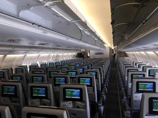 LEVEL A330-200 clase turista.