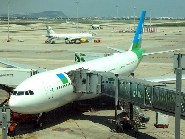 A330-200 LEVEL en el aeropuerto de Barcelona El Prat.
