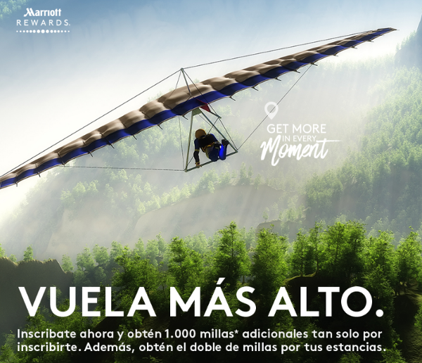 ¡1.000 Avios gratis con Marriott Rewards! ¡Y No requiere estancia en hotel!
