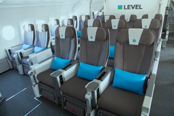 Cabina Turista Premium LEVEL A330-200. FOTO: LEVEL
