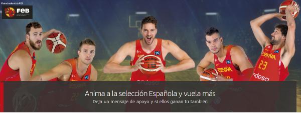 Interesante promoción de Iberia con la Federación Española de Baloncesto