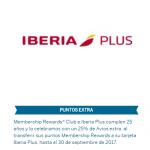 25% extra transferencia puntos Amex a Avios Iberia Plus, 30% descuento hoteles IHG con Iberia Plus