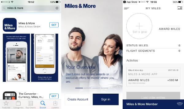 500 millas gratis con la App de Miles & More