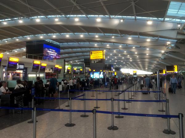 Facturación Londres Heathrow Terminal 5.