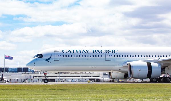 Airbus A350 de Cathay Pacific.