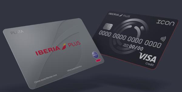 Iberia Plus Plata con la tarjeta ICON Iberia.