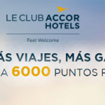 6.000 puntos Accor (=120€ o 6.000 Avios) con 3 estancias