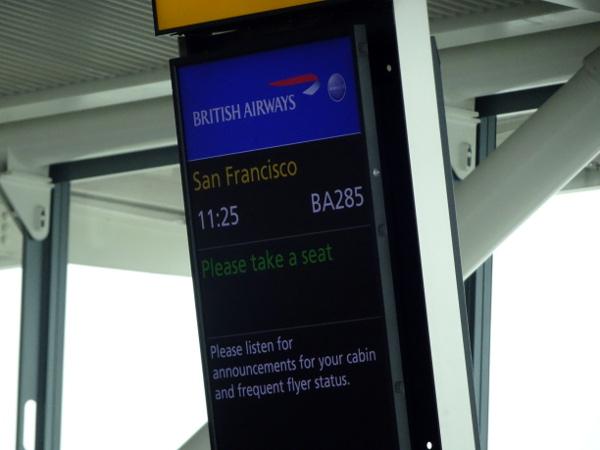 Puerta de embarque B33 Heathrow Terminal 5.