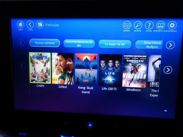 Turista British Airways: sistema entretenimiento personal 2.