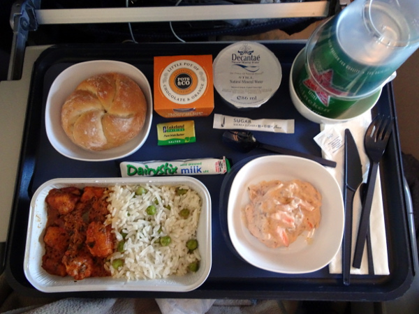 Turista British Airways: almuerzo.