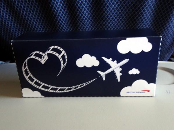 Turista British Airways: tentempié.