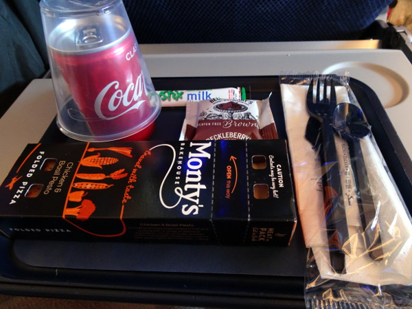 Turista British Airways: merienda.