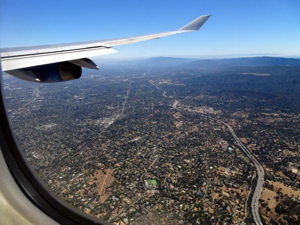 Turista British Airways: llegando a San Francisco.