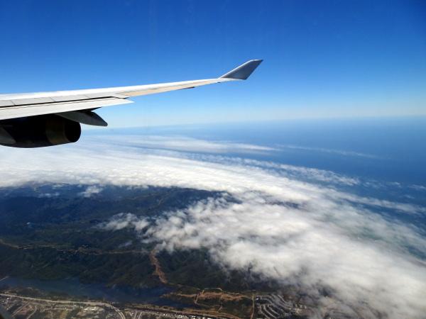 Turista British Airways: aproximación San Francisco.