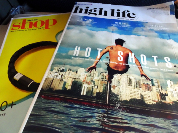 Turista British Airways: revista High Life