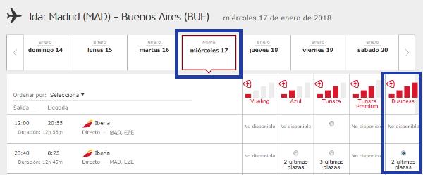 Cómo buscar disponibilidad de plazas con Avios #4