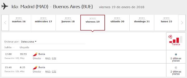 Cómo buscar disponibilidad de plazas con Avios #5