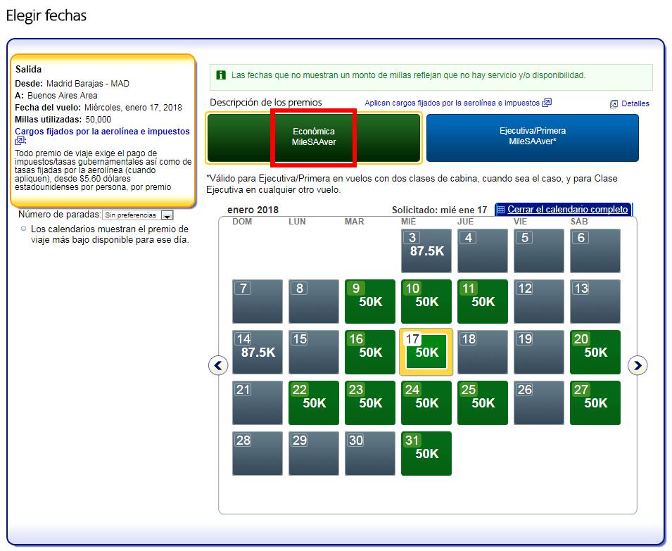 Cómo buscar disponibilidad de plazas con Avios #2
