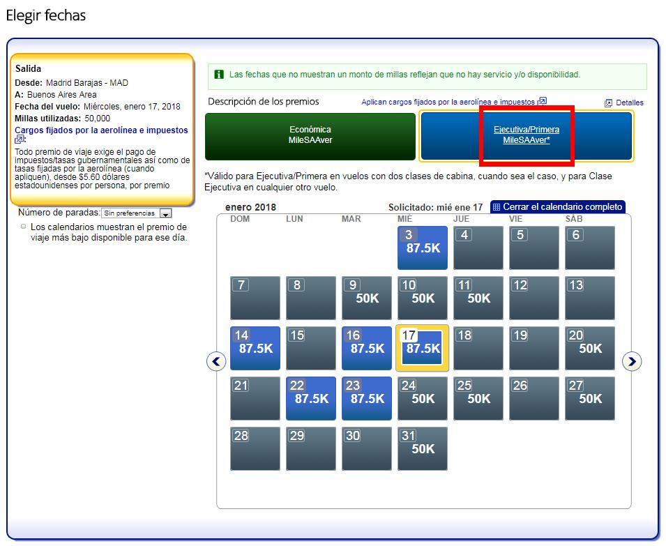 Cómo buscar disponibilidad de plazas con Avios #3