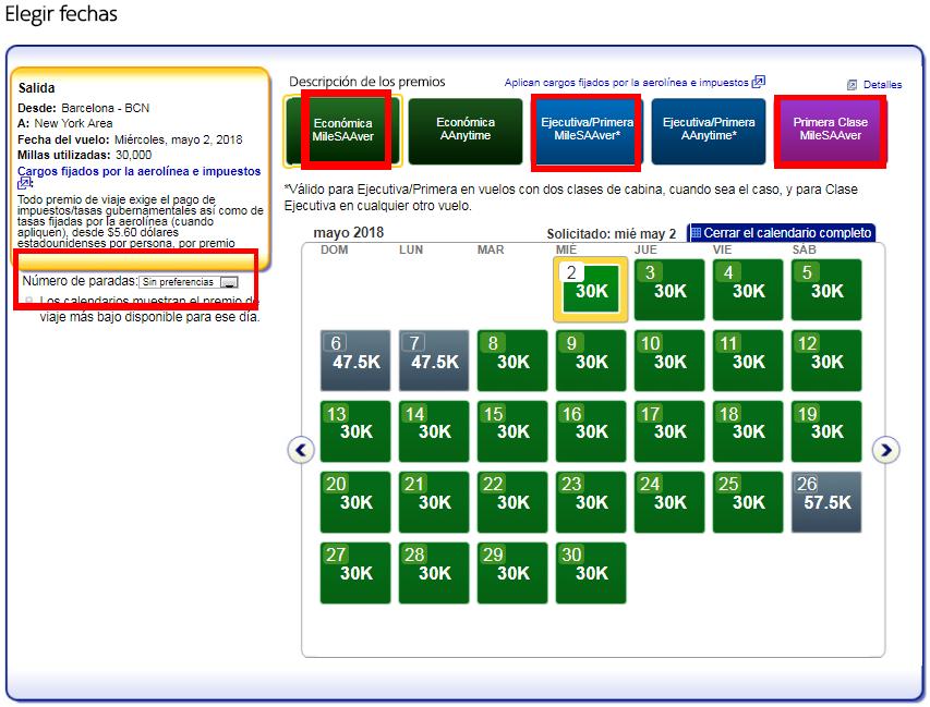 Cómo buscar disponibilidad de plazas con Avios #7