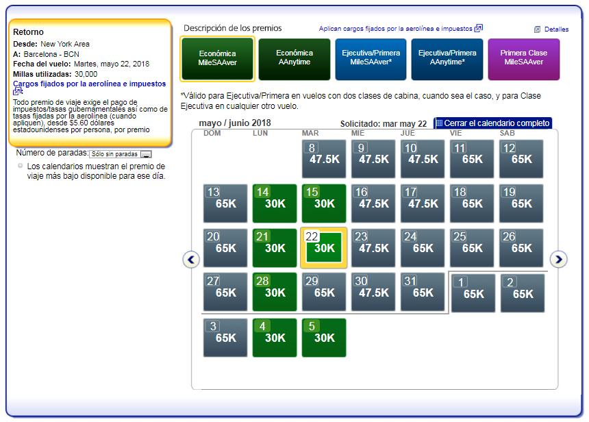 Cómo buscar disponibilidad de plazas con Avios #9