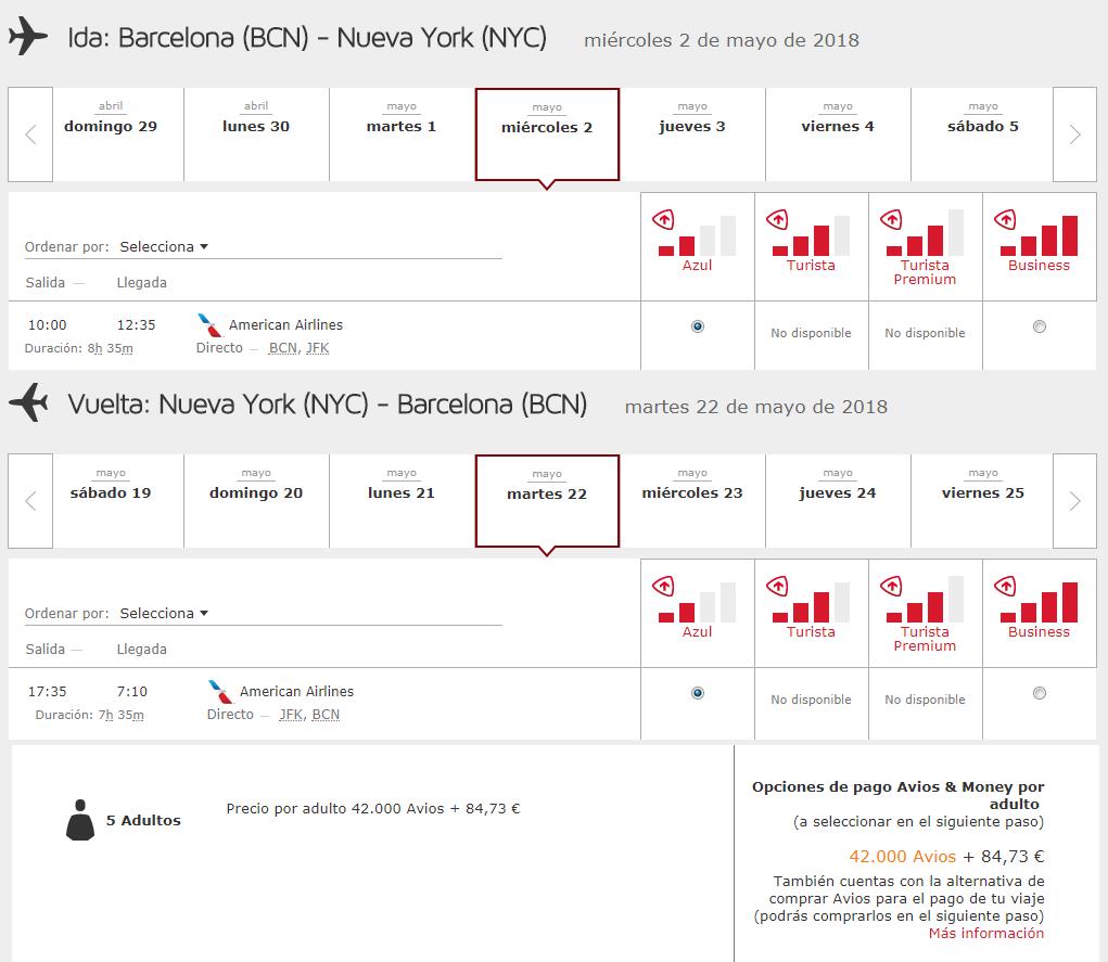 Cómo buscar disponibilidad de plazas con Avios #10