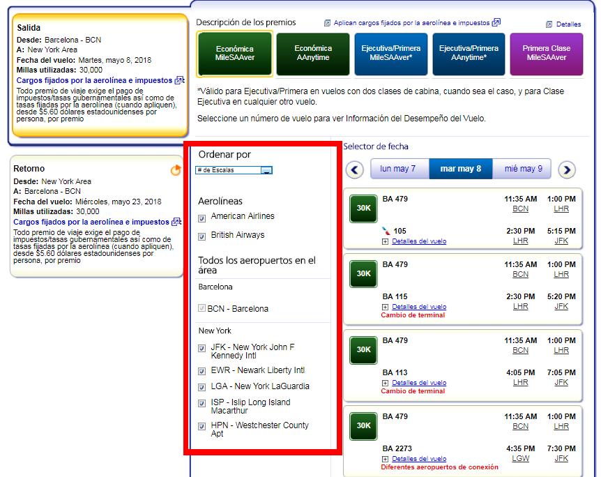 Cómo buscar disponibilidad de plazas con Avios #11