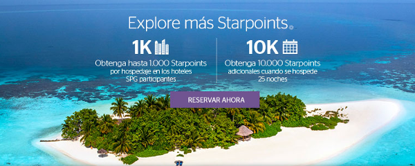 """Promoción SPG otoño: """"Explore más Starpoints"""""""