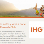 500 puntos Avios gratis con IHG Rewards Club (sin estancia requerida) y nivel Gold con solo 3 noches
