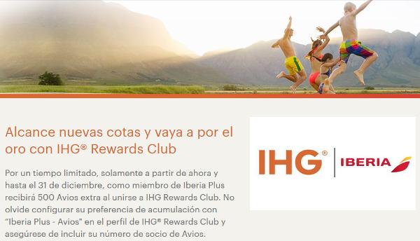500 puntos Avios gratis con IHG Rewards Club (sin estancia requerida) y nivel Gold con solo 3 noches