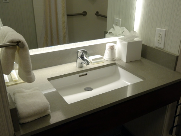 Hilton Garden Inn Long Island City: lavabo.