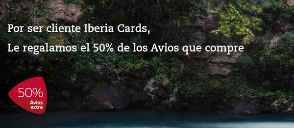 Iberia Cards 50% extra al comprar Avios