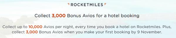 +3.000 Avios con tu primera reserva Rocketmiles