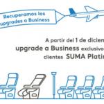 Air Europa recupera los upgrades a Business para socios Platinum