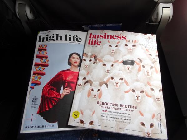 Revistas high life y business life de British Airways.