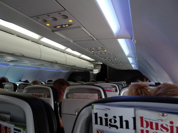 Cabina Club Europe British Airways A320.