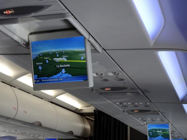 Pantallas compartidas A320 de British Airways.