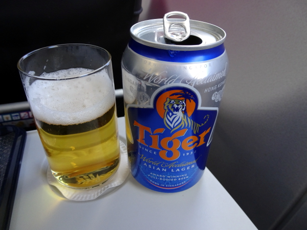 Cerveza Tiger, Club Europe British Airways.