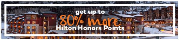 Compra puntos Hilton Honors con un 80% adicional