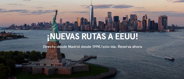 Norwegian lanza JFK y LAX desde Madrid