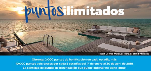 Promo Primavera Hilton: Mínimo 2.000 puntos Hilton Honors en todas tus estancias