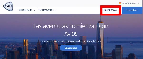 Buscar vuelos en Avios.com