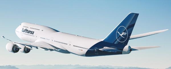 Boeing 747-8 con la nueva image corporativa de Lufthansa.
