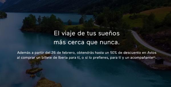 """Mañana lunes descubriremos la nueva promo """"hasta 50% descuento en Avios"""" de Iberia Cards (Icon)."""