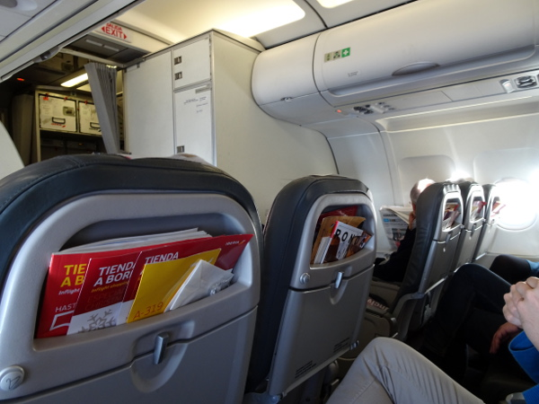 Volando Iberia Business Class Europea. Asiento Business.